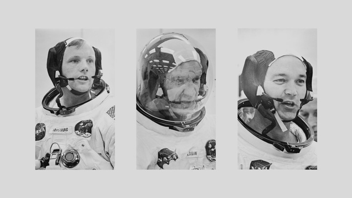 The Apollo 11 crew, from left: Neil Armstrong, Buzz Aldrin, and Michael Collins