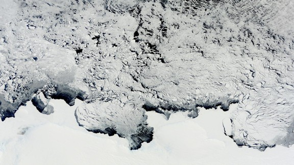 Satellite image of Antarctic ice from 2011