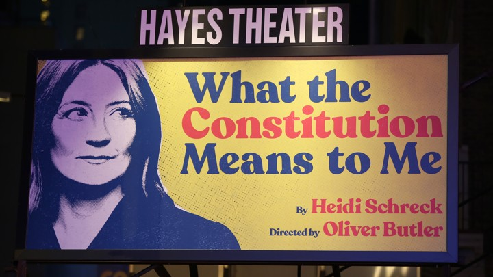 """What the Constitution Means to Me"" billboard"