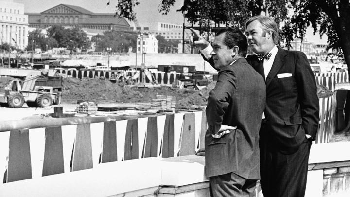Daniel Patrick Moynihan and President Richard Nixon