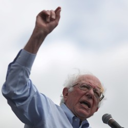 Democratic U.S. 2020 presidential candidate Bernie Sanders speaks at a rally in downtown Los Angeles, California, U.S., March 23, 2019.