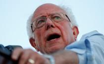 Democratic presidential candidate U.S. Sen. Bernie Sanders speaks at a rally in Long Beach, California, on August 6, 2019.