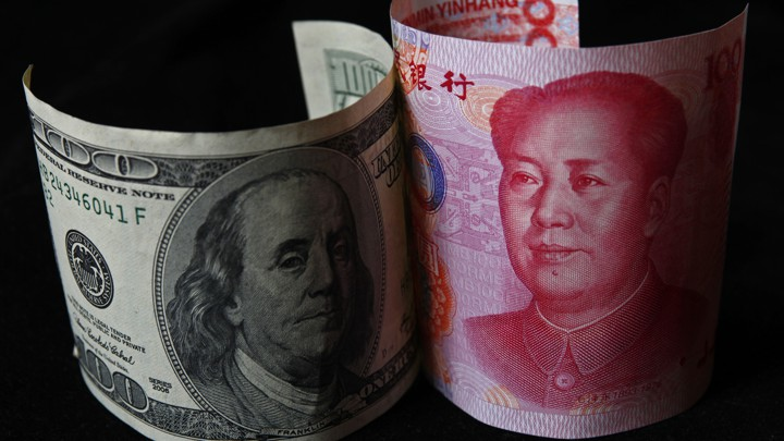 American dollar and Chinese yuan