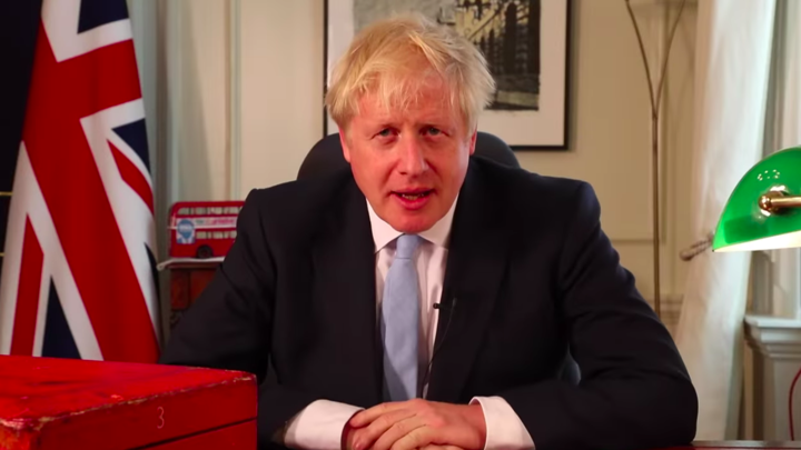 Boris Johnson at 10 Downing Street.