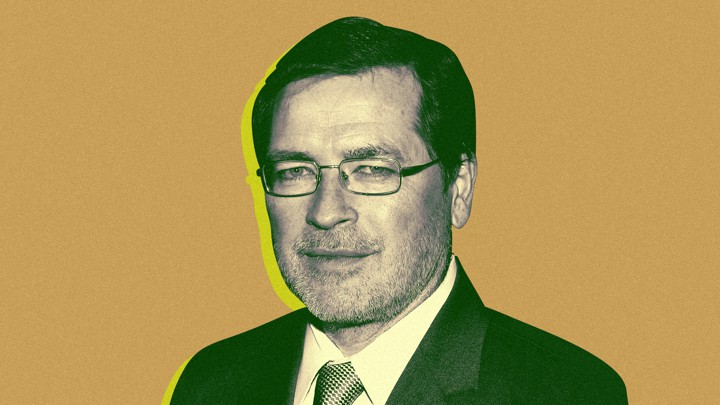 Headshot of Grover Norquist, the conservative anti-tax activist who runs the advocacy group Americans for Tax Reform.