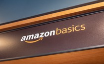 A sign for Amazon basics