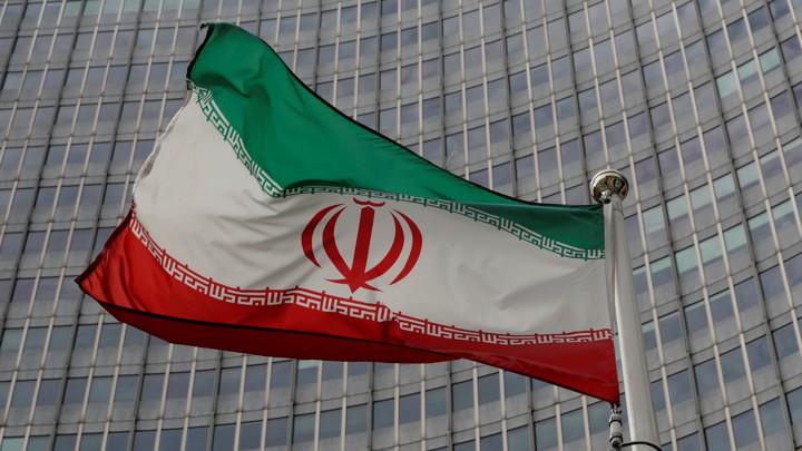 An Iranian flag