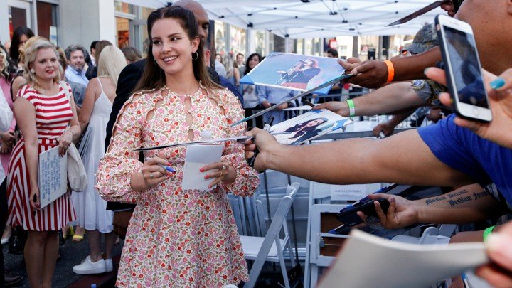 Lana Del Rey at the Hollywood Walk of Fame in 2019.