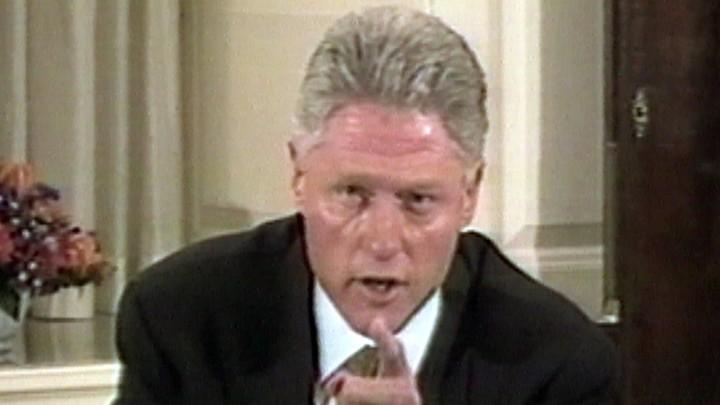 Bill Clinton pointing at the camera