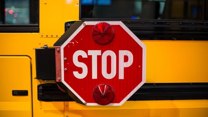 School-bus stop sign