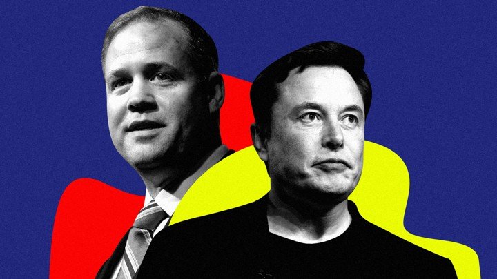 Elon Musk and NASA Director Jim Bridenstine