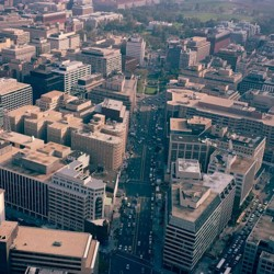 Panorama aerial view of Washington, D.C.