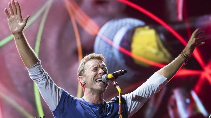 Chris Martin of Coldplay in 2017
