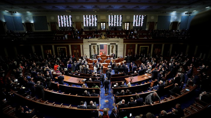 The inside of the U.S. House of Representatives.