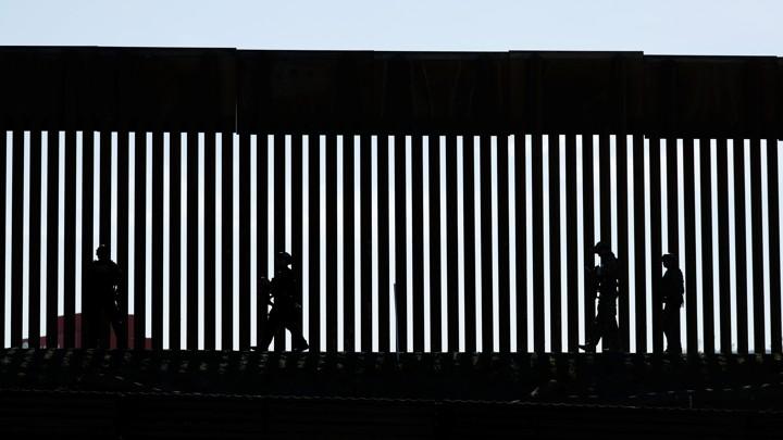 Border Patrol agents at the San Ysidro border between Mexico and the U.S.