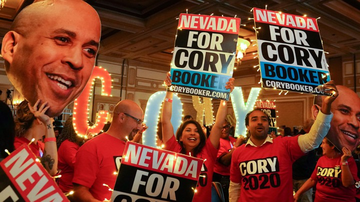 Supporters of Cory Booker in Nevada