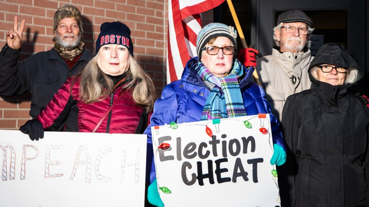 A pro-impeachment protest in Boise, Idaho