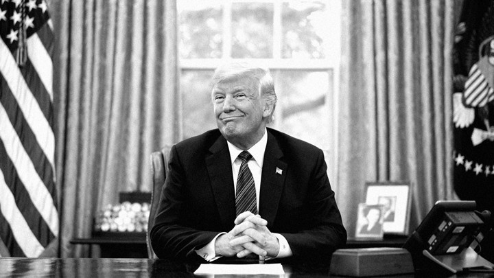 Donald Trump in the Oval Office