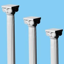 An illustration of Roman pillars descending