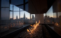 View from a duplex penthouse in Manhattan