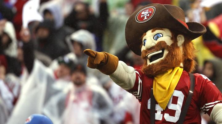 Sourdough Sam, the mascot for the San Francisco 49ers