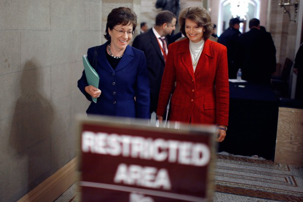 Image result for photos of senators mccain collins murkowski
