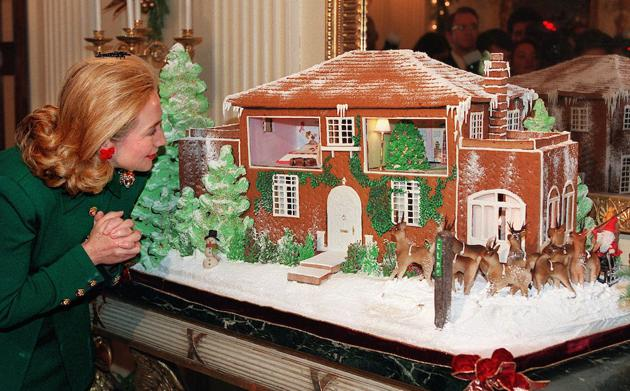 ... First Lady Hillary Clinton Opened The White House Holiday Season On  Dec. 4, 1995 By Peering Into An Artistu0027s Edible Rendition Of Her Childhood  Home On ...