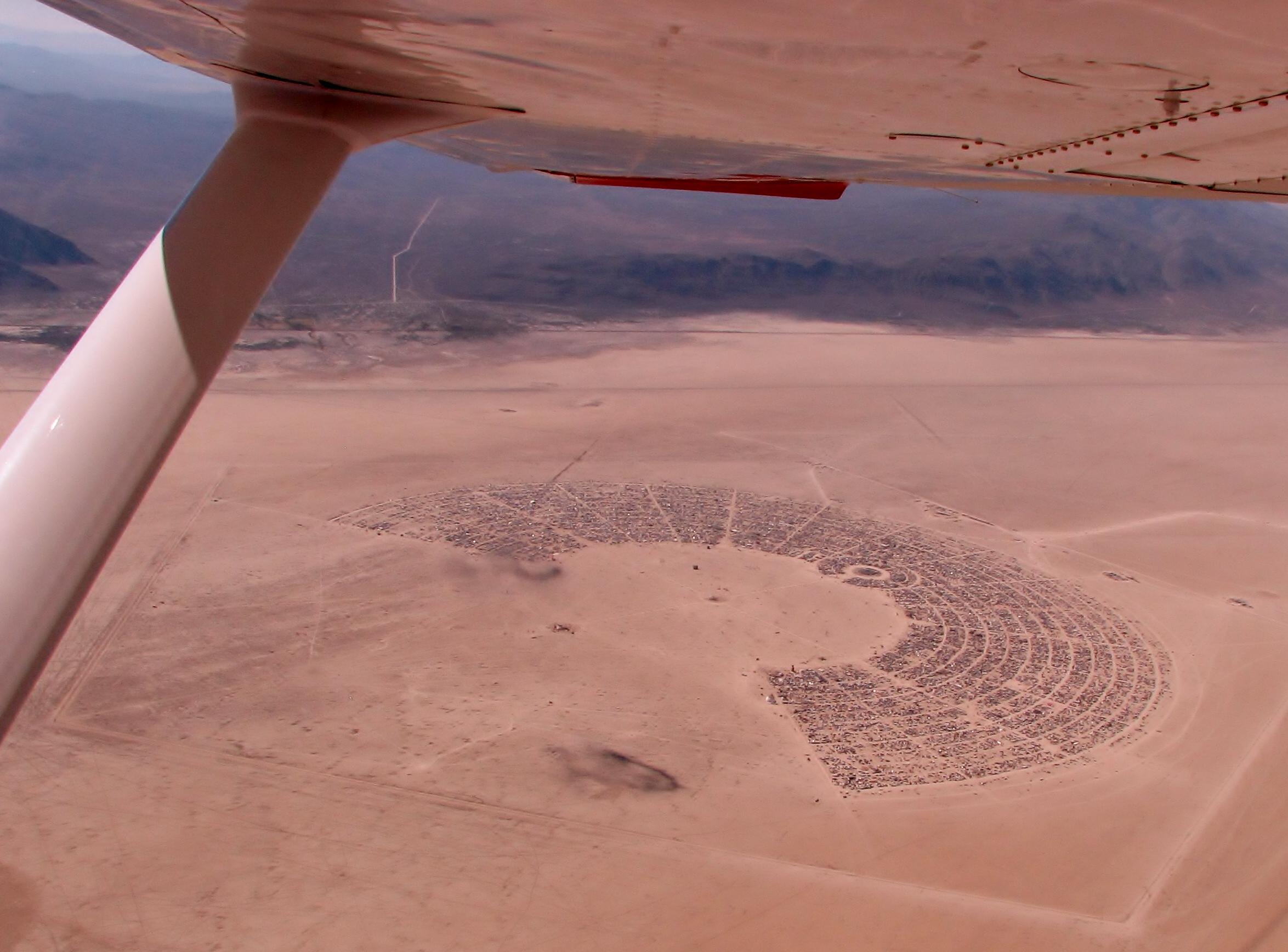 America by Air: Burning Man Below - The Atlantic