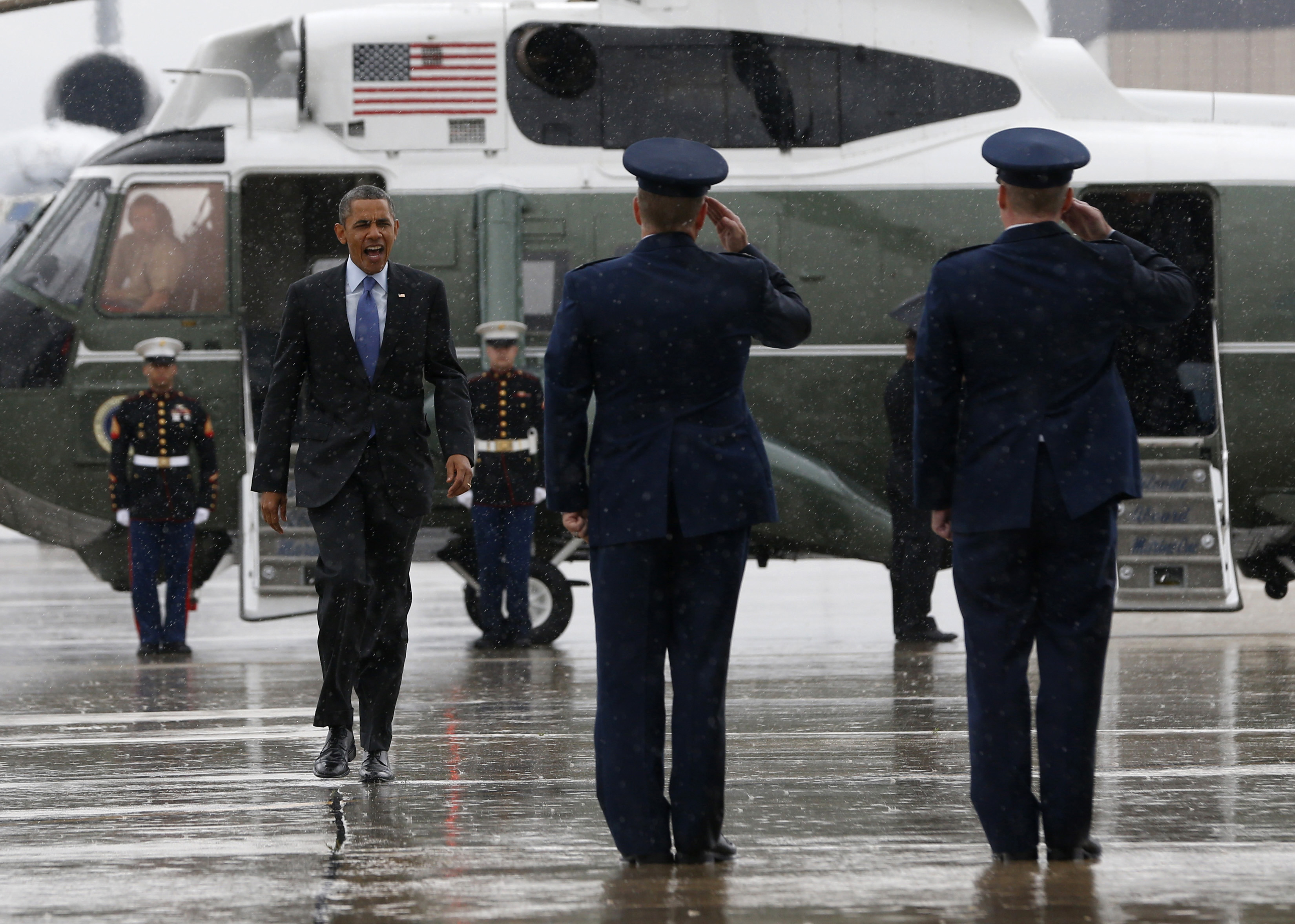 Trump, Marine One, and the Rain: Readers Weigh In - The Atlantic