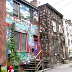 City of Asylum houses on Sampsonia Way in Pittsburgh