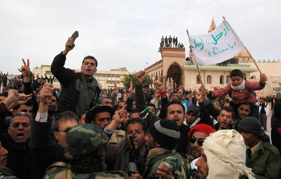 A bloody week in libya the atlantic protesters chant anti government slogans in the main square of tobruk february 22 2011 libyan soldiers in the eastern city of tobruk told a reuters sciox Choice Image