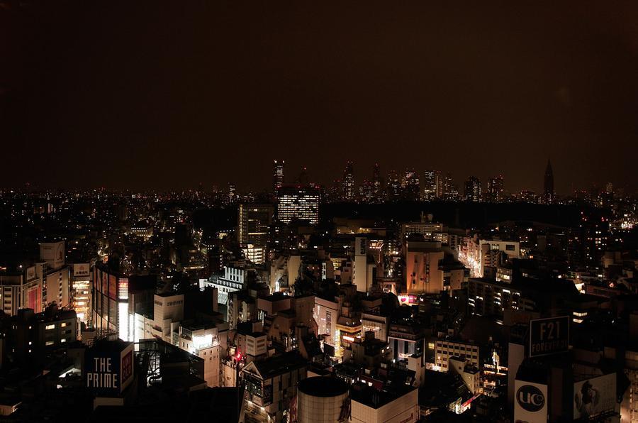 tokyo dark city skyline - photo #15