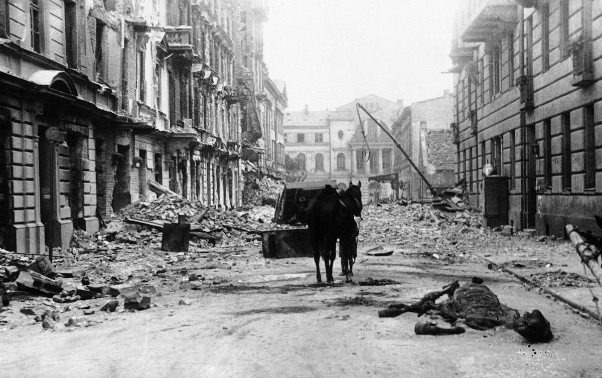 Улица Варшавы в марте 1940 года