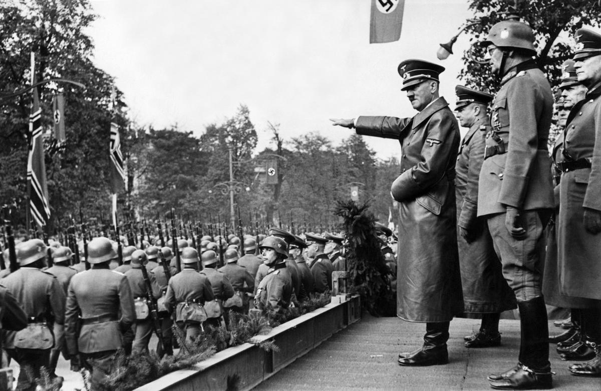 an analysis of the pre war timeline on adolf hitlers fascist germany Timeline part three prelude to a nightmare hitler gives the nazi salute at the 1936 olympics in berlin  1935 - hitler openly announces that germany is ignoring the treaty of versailles and rearming.