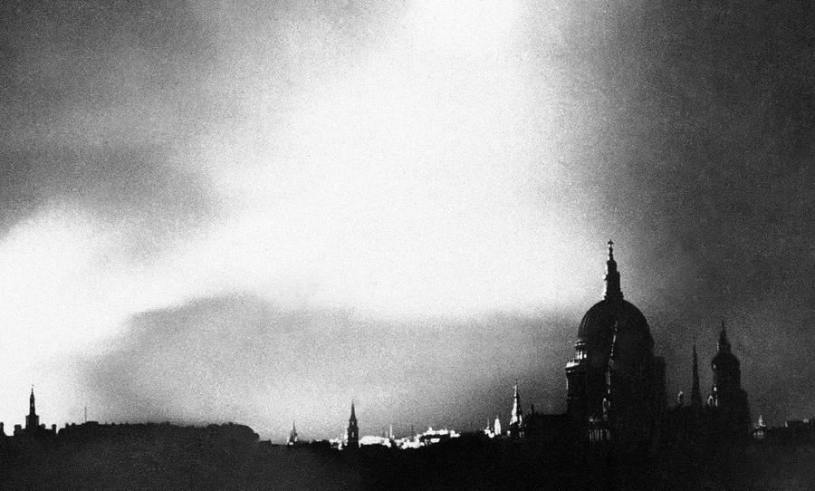 Fires Rage In The City Of London After A Lone German Bomber Had Dropped Incendiary Bombs Close To Heart On September 1 1940