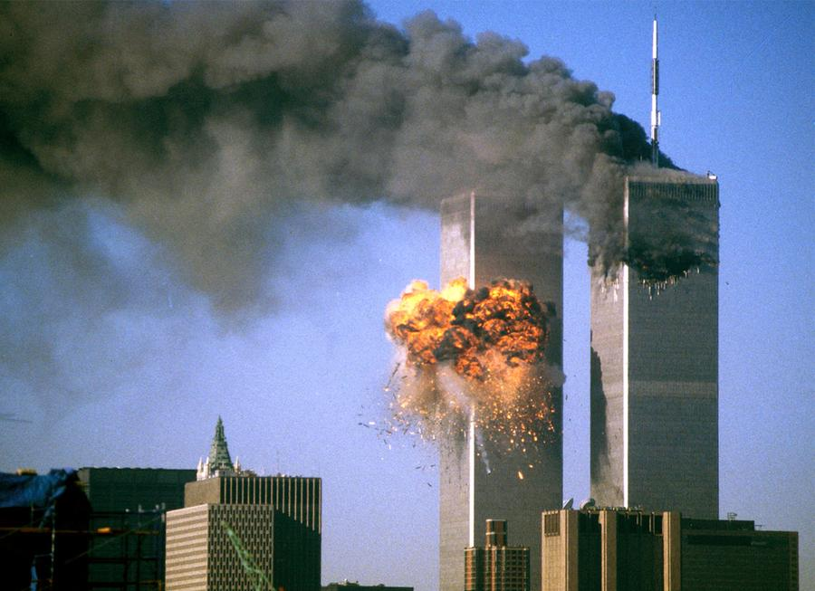 Image result for color images of the 911 towers smoking