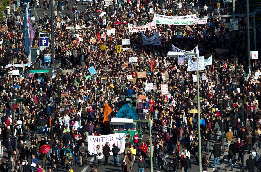Occupy Wall Street Spreads Worldwide The Atlantic