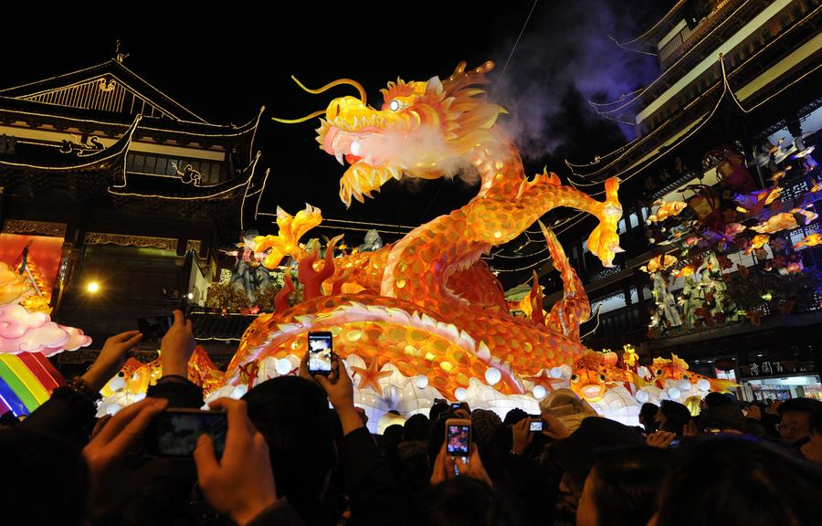 thousands of people visit a lantern festival to celebrate the chinese new year of the dragon in shanghai on january 23 2012 - Chinese Lunar New Year