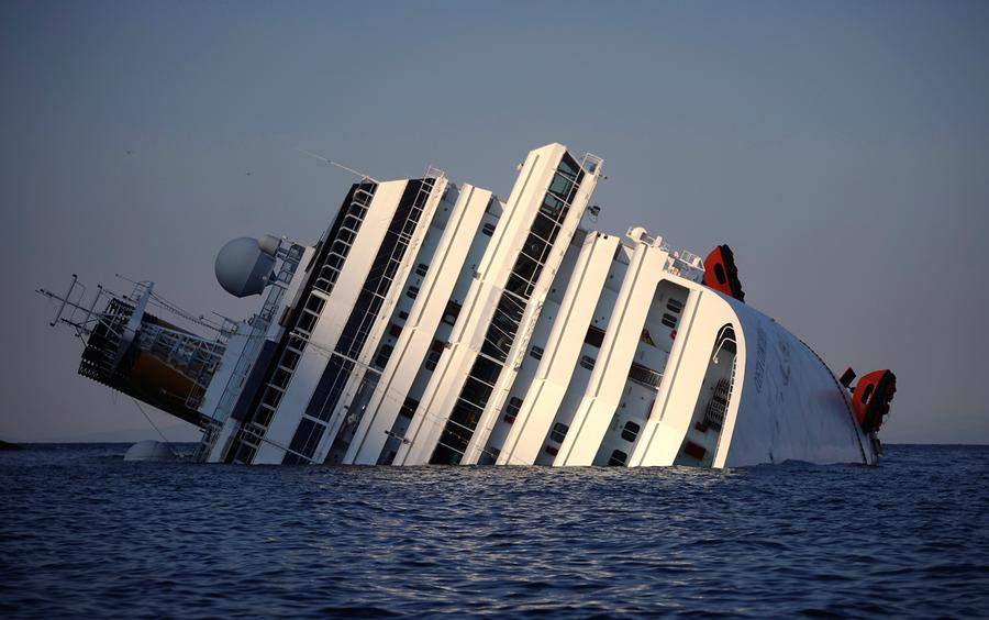 View Of The Costa Concordia Taken On January 14 2012 After Cruise Ship Ran Aground And Keeled Over Off Isola Del Giglio