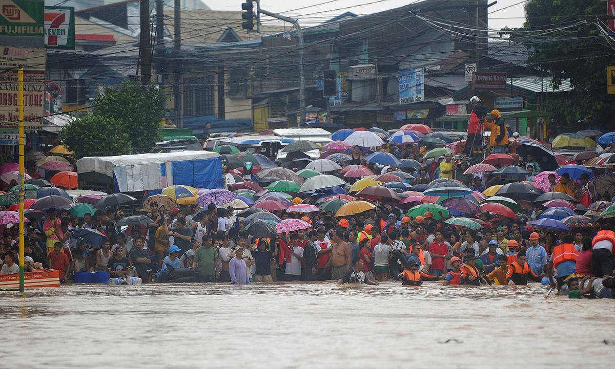monsoon rain floods manila the atlantic