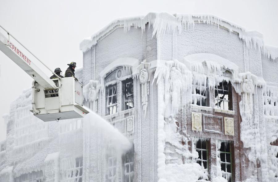 Image result for ice on building pic