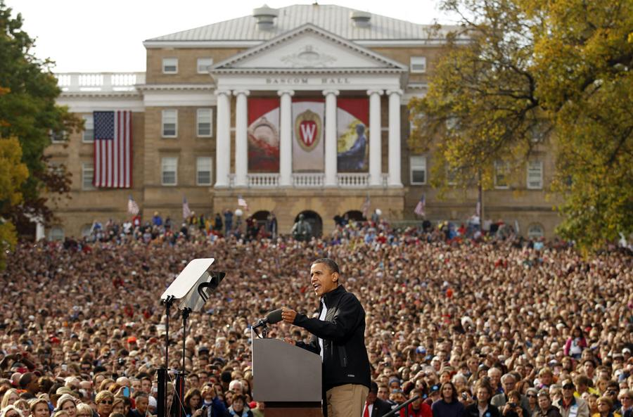 Of new jersey governor chris christie right during a rally in - President Obama S First 4 Years The Atlantic