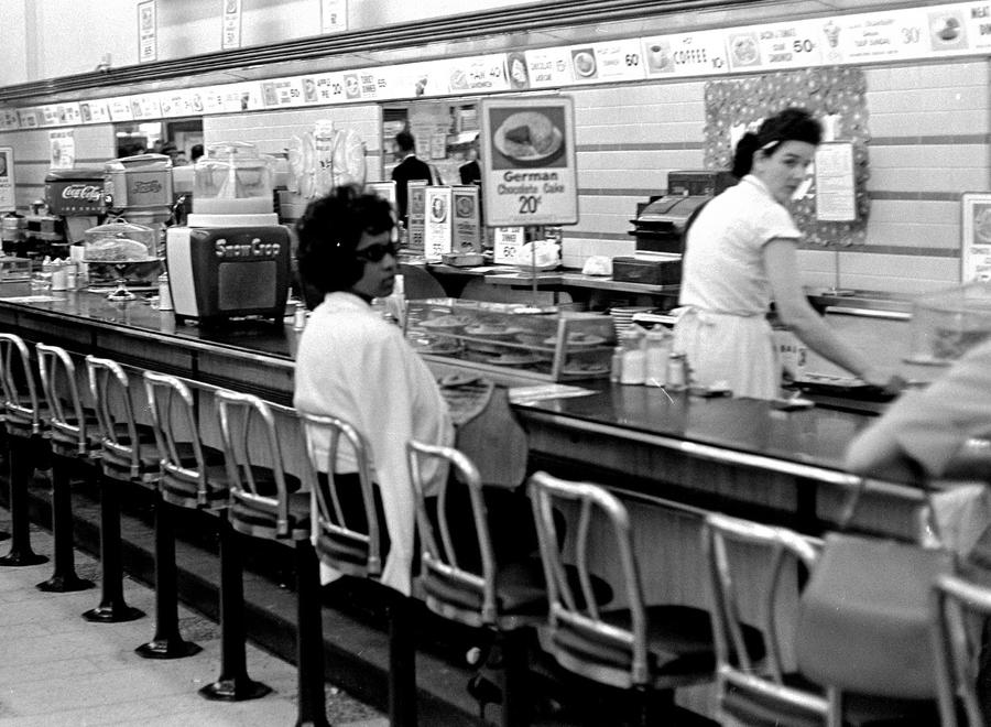 Years Ago  The World in        The Atlantic The Atlantic Black college student Dorothy Bell      of Birmingham  Alabama  waits at a downtown Birmingham lunch counter for service that never came  April