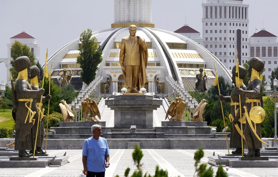 The City Of White Marble Ashgabat Turkmenistan The