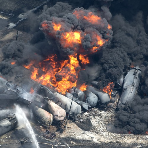 Freight Train Derails and Explodes in Lac-Megantic, Quebec