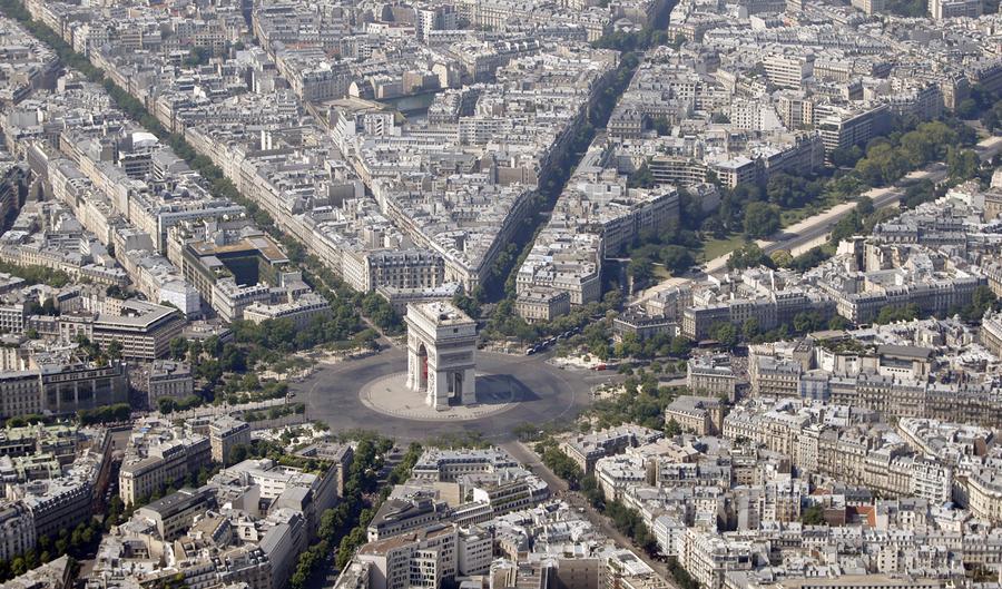Paris from above the atlantic - L eclat de verre paris ...