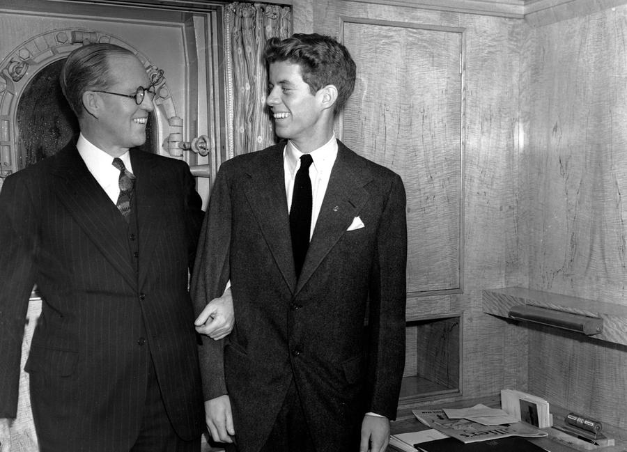 jfk years in office. In This January 5, 1938 File Photo, Joseph P. Kennedy, Left, U.S. Ambassador To Great Britain, Stands With His 20 Year Old Son, John F. Jfk Years Office Y