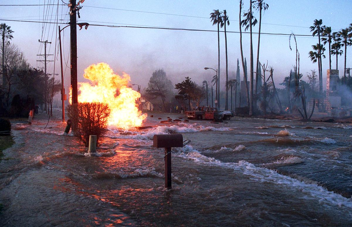 Image result for northridge earthquake fires