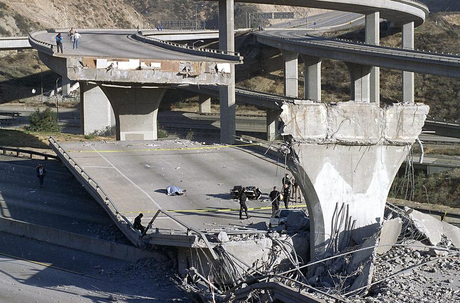 Image result for collapsed 14 freeway