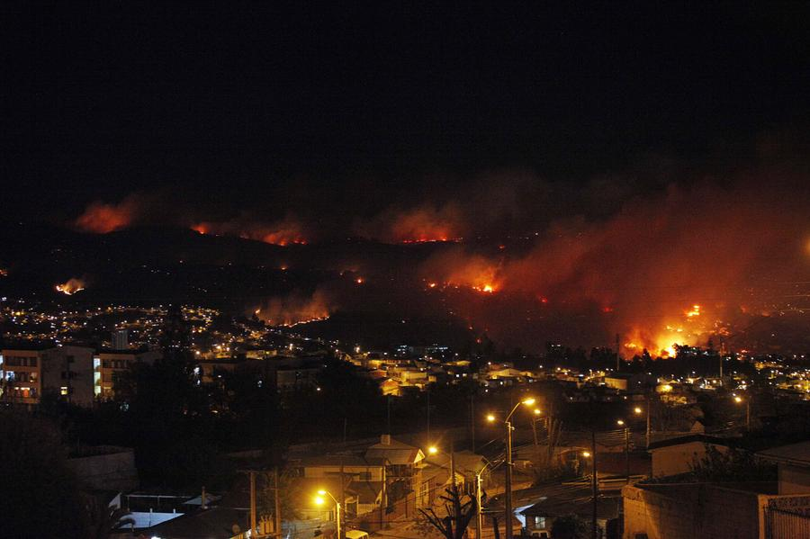 Destroyed City On Fire